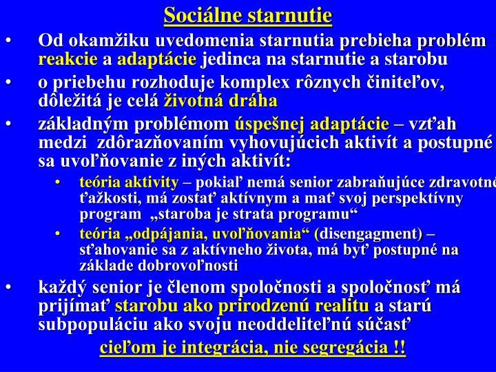 Sociálne starnutie