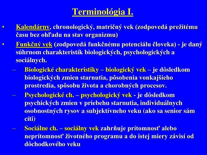 Terminológia I.