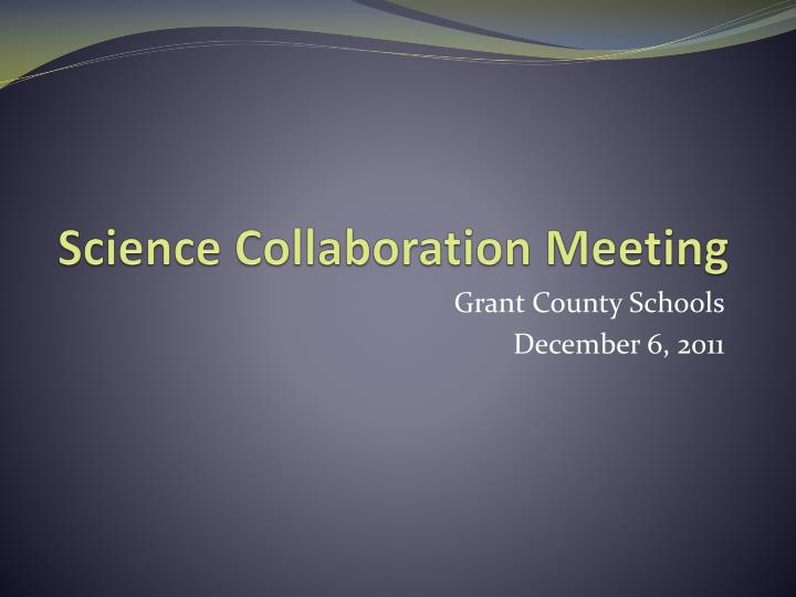 science collaboration meeting n.