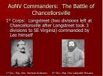 aonv commanders the battle of chancellorsville