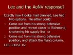 lee and the aonv response