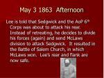 may 3 1863 afternoon
