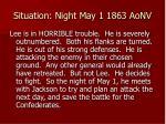 situation night may 1 1863 aonv