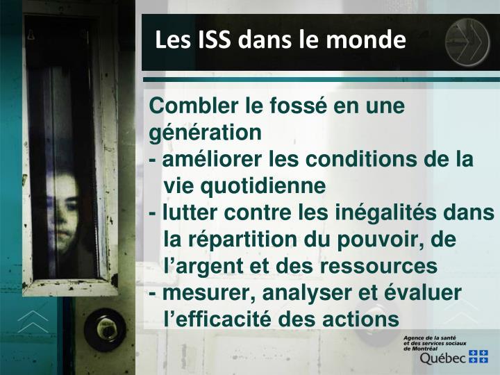 Les ISS dans le monde