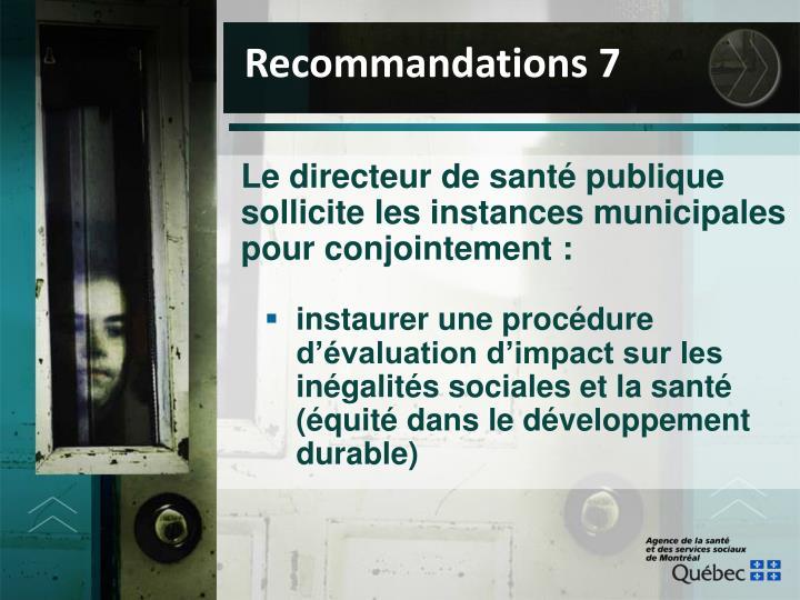 Recommandations 7