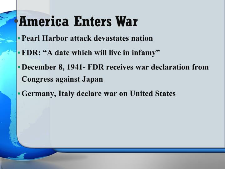 America Enters War
