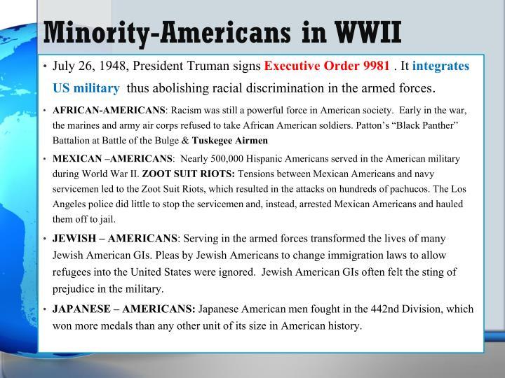 Minority-Americans in WWII