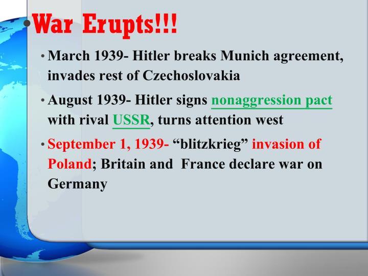 War Erupts!!!