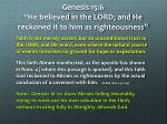 genesis 15 6 he believed in the lord and he reckoned it to him as righteousness