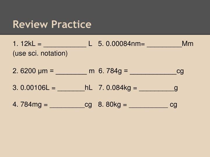 Review Practice