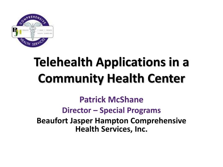 telehealth applications in a community health center n.