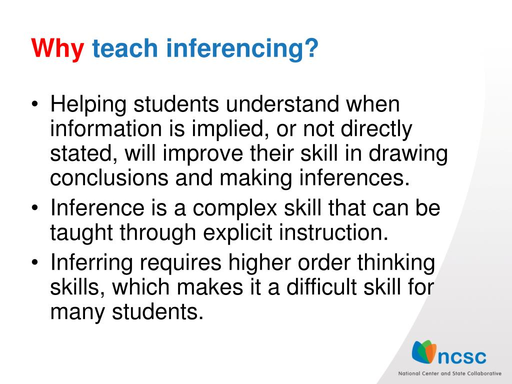 PPT - What is inferencing ? PowerPoint Presentation, free ...