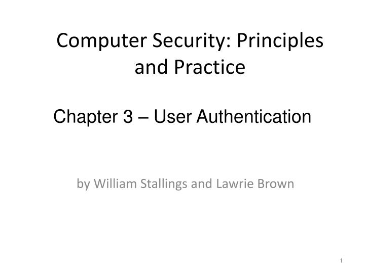 computer security principles and practice