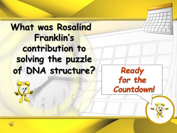 What was Rosalind Franklin's contribution to solving the puzzle of DNA structure