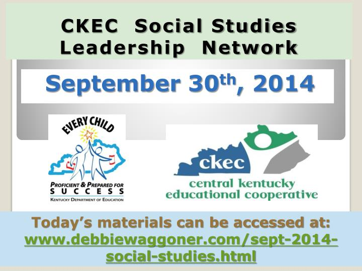 Ckec social studies leadership network
