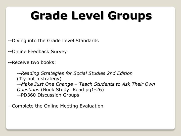 Grade Level Groups