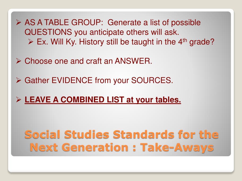 PPT - CKEC Social Studies Leadership Network PowerPoint