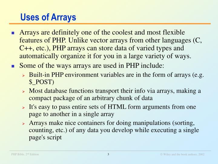 Uses of arrays