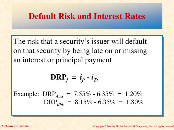 Default Risk and Interest Rates