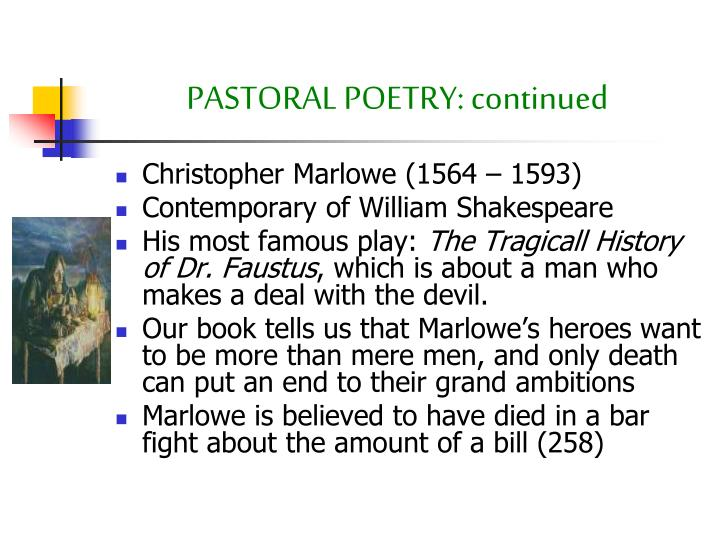 Christopher Marlowe (1564 – 1593)