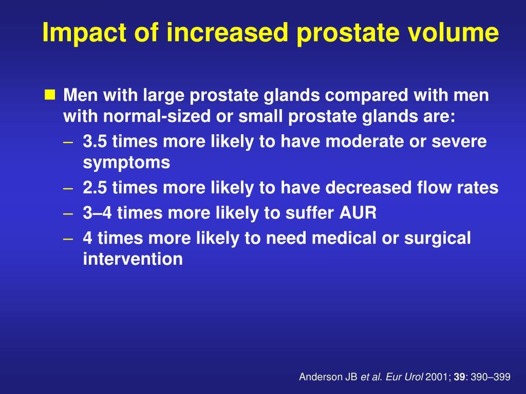 normale volume prostata