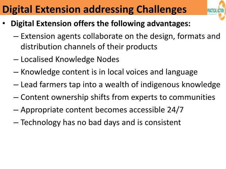 Digital Extension addressing Challenges