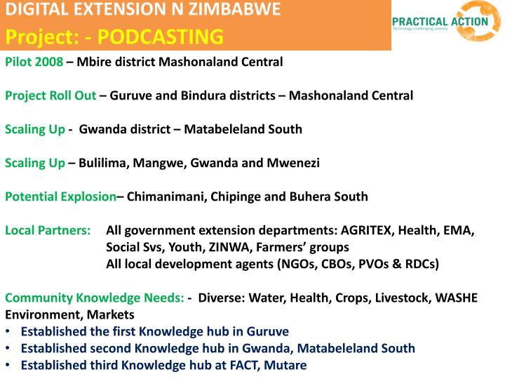 DIGITAL EXTENSION N ZIMBABWE