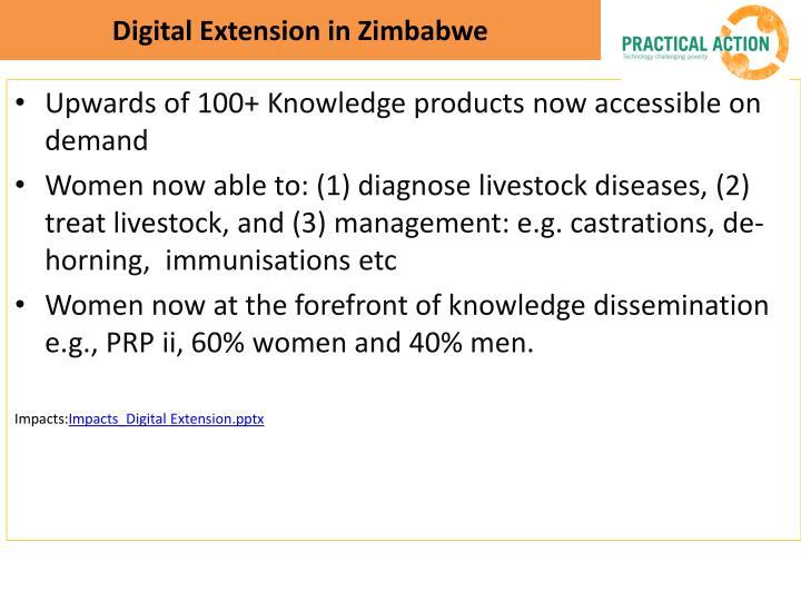 Digital Extension in Zimbabwe