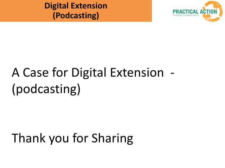 Digital Extension