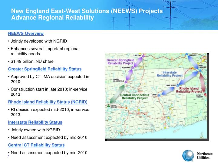 New England East-West Solutions (NEEWS) Projects
