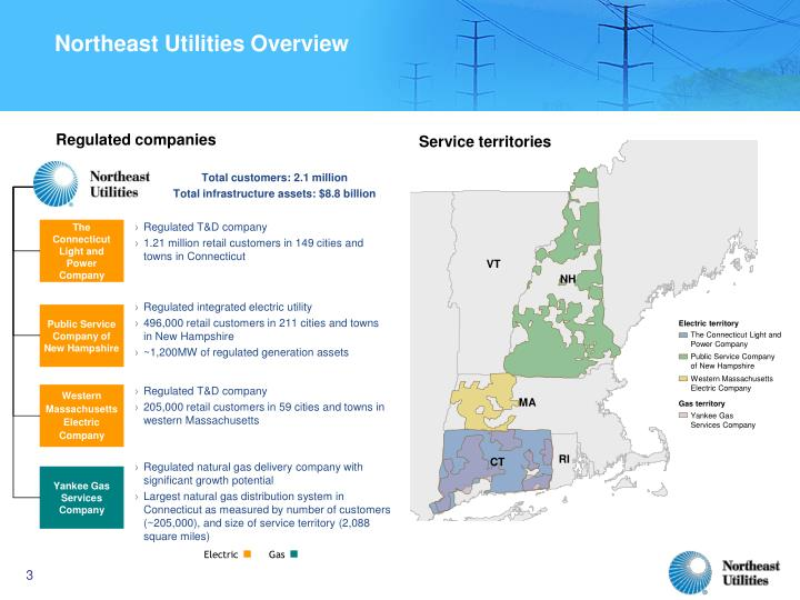 Northeast utilities overview