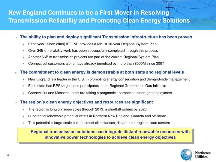 New England Continues to be a First Mover in Resolving Transmission Reliability and Promoting Clean Energy Solutions