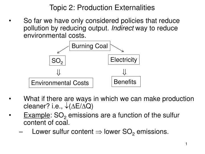 topic 2 production externalities n.