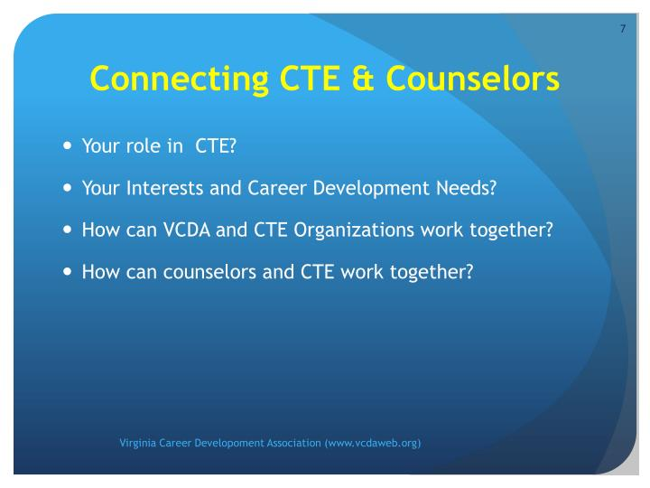 Connecting CTE & Counselors
