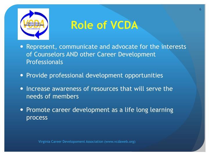 Role of VCDA