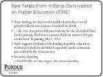 new twists from indiana commission on higher education iche