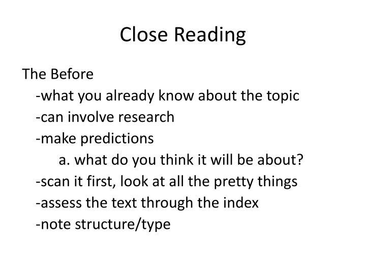 Close reading1