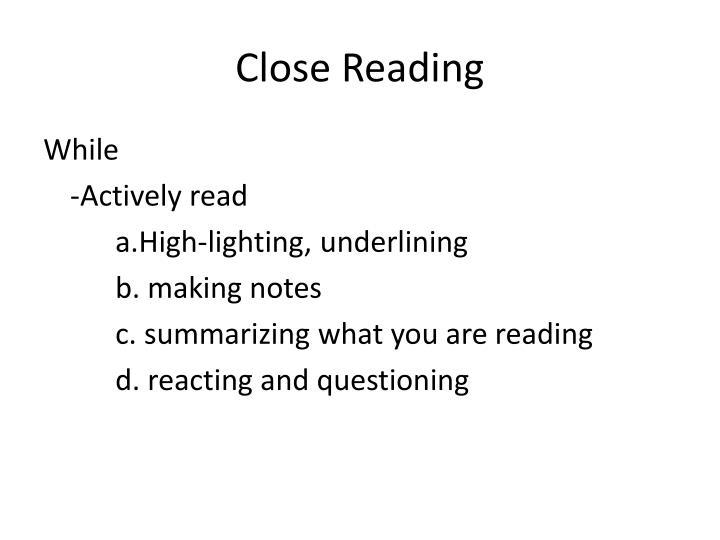 Close reading2