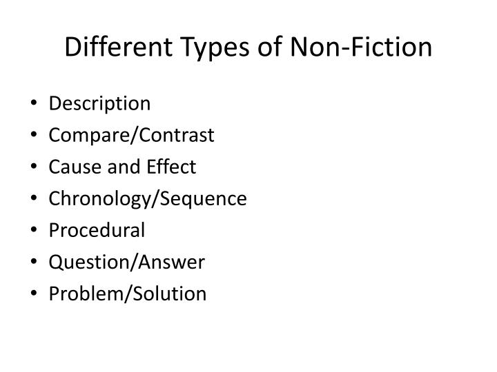 Different Types of Non-Fiction