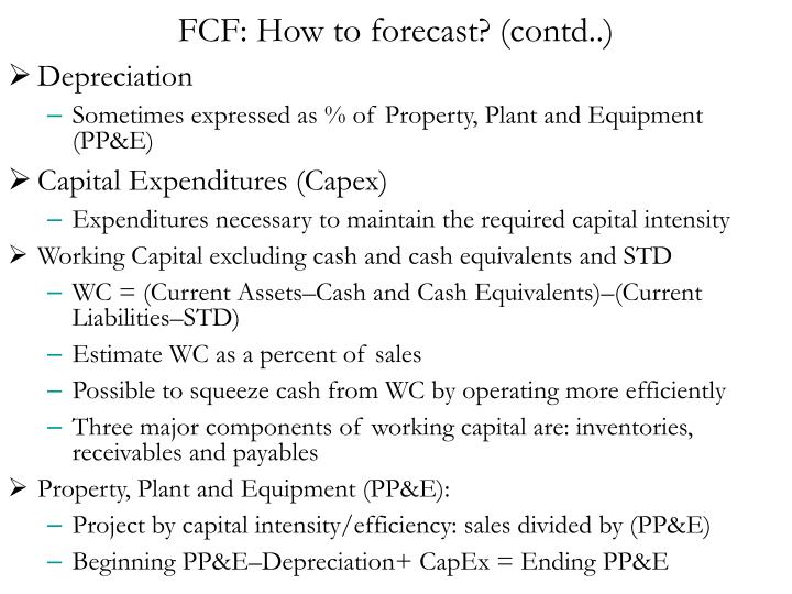 FCF: How to forecast? (contd..)