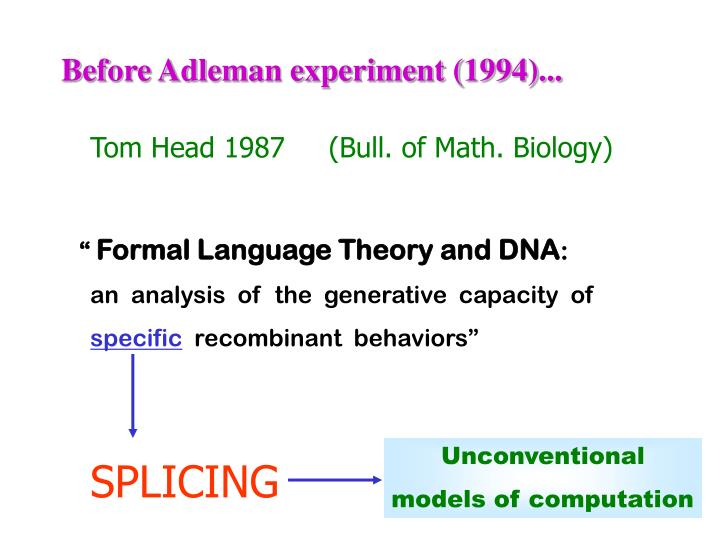 Before adleman experiment 1994