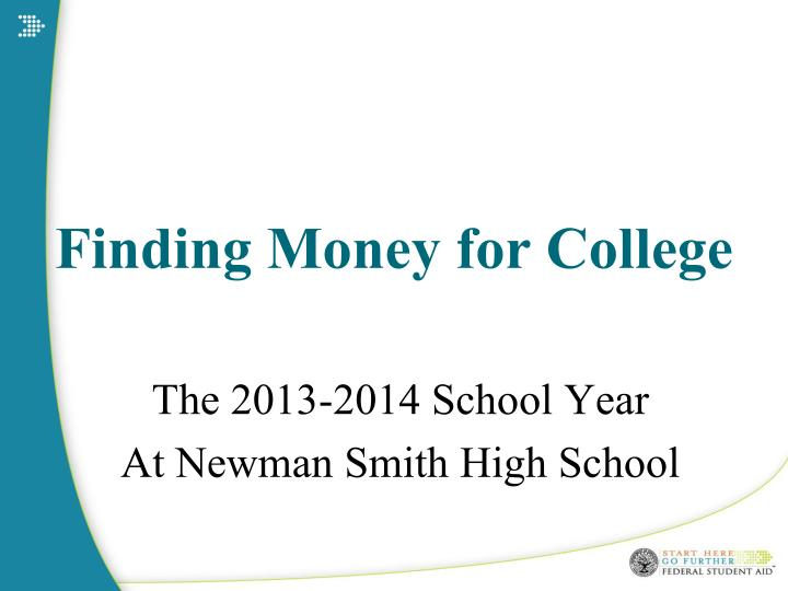 finding money for college n.