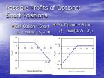 possible profits of options short positions