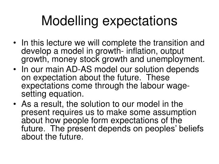 modelling expectations n.