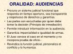 oralidad audiencias