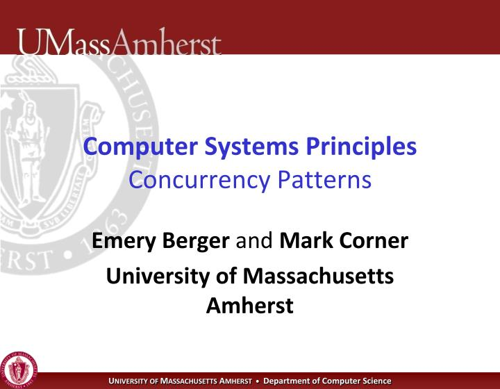 computer systems principles concurrency patterns n.