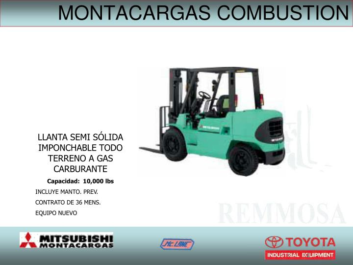 MONTACARGAS COMBUSTION