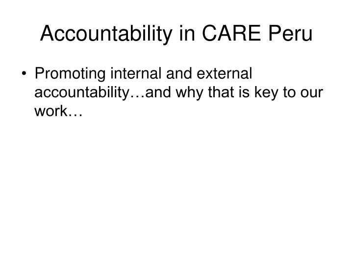 accountability in care peru n.