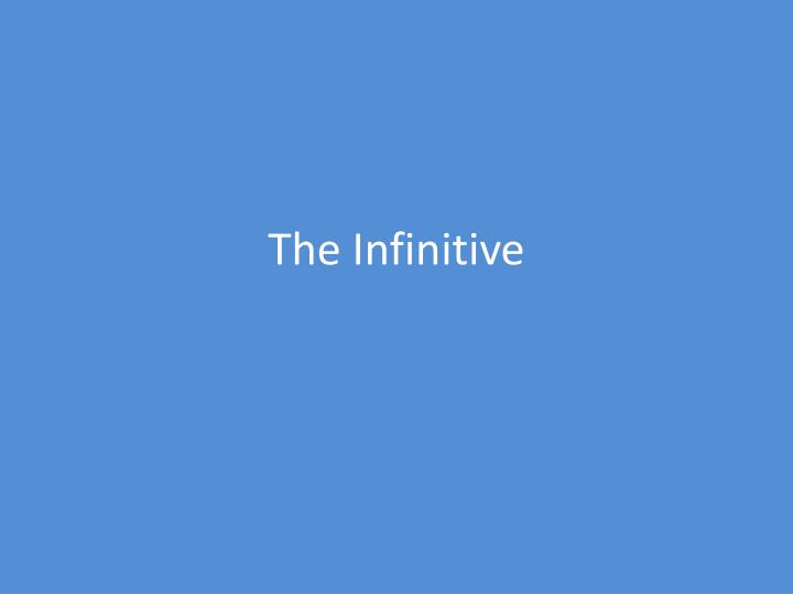 the infinitive n.