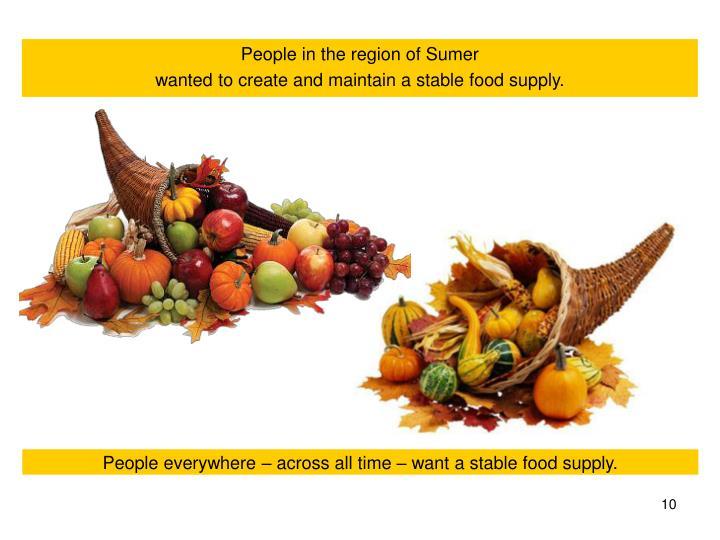 People in the region of Sumer